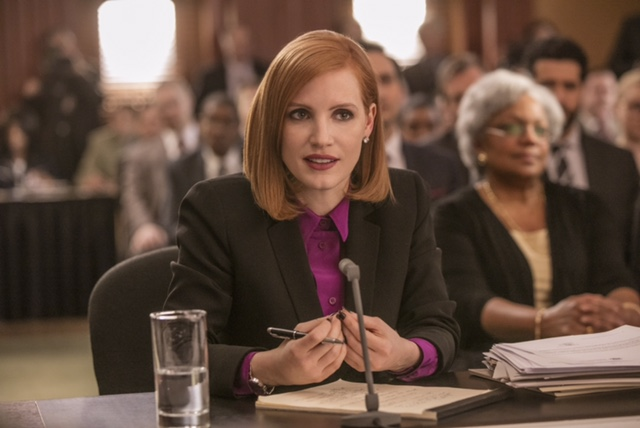 "M3 Jessica Chastain stars in EuropaCorp's ""Miss. Sloane"". Photo Credit: Kerry Hayes © 2016 EuropaCorp – France 2 Cinema"