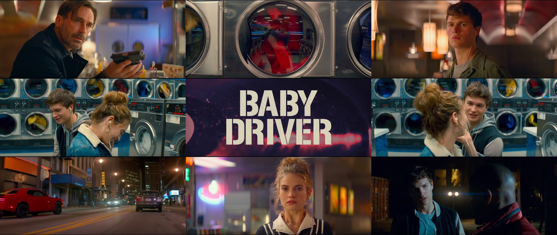 How Edgar Wright uses colors blue, red, and yellow in Baby Driver